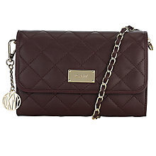 Buy DKNY Gansevoort Quilted Small Across Body Bag, Burgundy Online at johnlewis.com