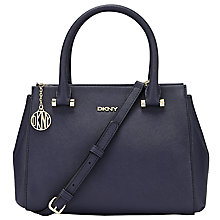 Buy DKNY Bryant Park Saffiano Small Satchel, Navy Online at johnlewis.com