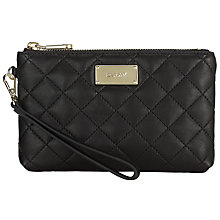 Buy DKNY Gansevoort Quilted Nappa Wristlet Purse, Black Online at johnlewis.com