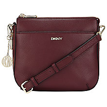 Buy DKNY Tribeca Double Zip Across Body Bag, Burgundy Online at johnlewis.com
