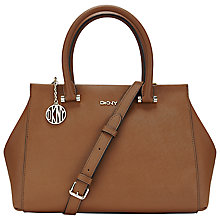 Buy DKNY Bryant Park Large Saffiano Satchel, Tan Online at johnlewis.com