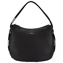 Buy DKNY Leather Tribeca Bag, Black Online at johnlewis.com