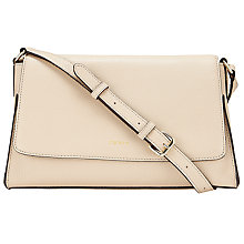 Buy DKNY Chelsea Vintage Leather Across Body Bag, Sand Online at johnlewis.com