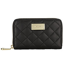 Buy DKNY Python Ganesvoort Quilted Nappa  Zip Around Purse, Black Online at johnlewis.com