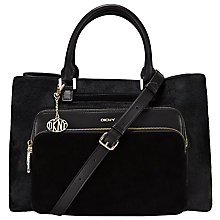 Buy DKNY Riverside Haircalf Shopper Bag, Black Online at johnlewis.com