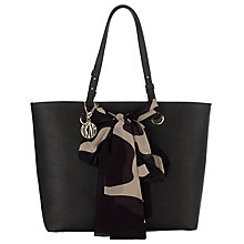 Buy DKNY Saffiano Scarf Tote Bag, Black Online at johnlewis.com