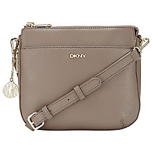 Buy DKNY Tribeca Top Zip Across Body Bag, Taupe Online at johnlewis.com
