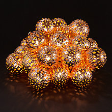 Buy Think Gadgets Galore 24 Ball Line Lights, Copper Online at johnlewis.com