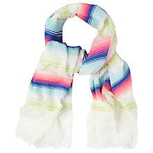 Buy White Stuff Cooler Stripe Cotton Scarf, Multi Online at johnlewis.com