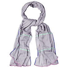 Buy White Stuff Crochet Trim Scarf, Purple Online at johnlewis.com