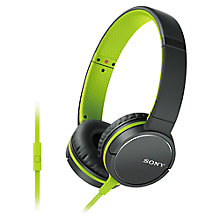 Buy Sony MDR-ZX660APG On-Ear Headphones with Inline Mic/Remote Online at johnlewis.com