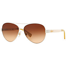 Buy Ralph RA4114 Metal Frame Aviator Sunglasses Online at johnlewis.com