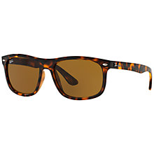 Buy Ray-Ban RB4226 Square Framed Sunglasses, Tortoise Online at johnlewis.com