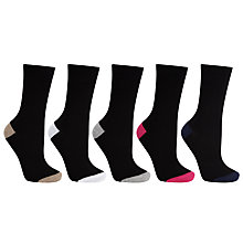 Buy John Lewis Cotton Mix Fashion Ankle Socks, Pack of 5, Multi Online at johnlewis.com