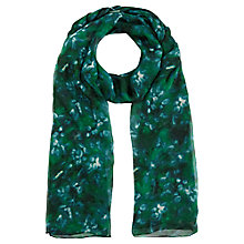 Buy Jigsaw Misty Morning Scarf, Green Online at johnlewis.com