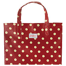 Buy Cath Kidston Button Spot Shopper, Berry Online at johnlewis.com