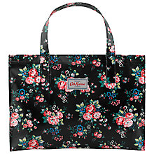 Buy Cath Kidston Spray Flowers Shopper, Black/Pink Online at johnlewis.com