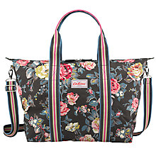 Buy Cath Kidston Garden Rose Foldaway Beach Bag, Charcoal Online at johnlewis.com
