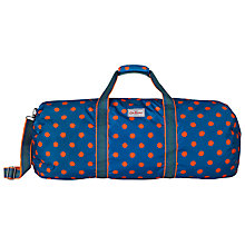 Buy Cath Kidston Button Spot Large Foldaway Holdall, Blue/Orange Online at johnlewis.com