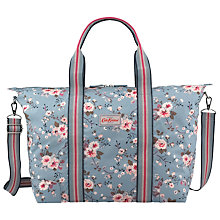 Buy Cath Kidston Trailing Rose Foldaway Holiday Bag, Blue Online at johnlewis.com