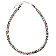 Buy John Lewis Crystal Bead Necklace, Silver/Multi Online at johnlewis.com