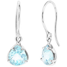 Buy Dinny Hall Sheba Sterling Silver Blue Topaz Drop Earrings, Silver Online at johnlewis.com