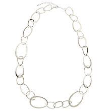 Buy John Lewis Hammered Circles Long Necklace, Silver Online at johnlewis.com