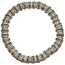Buy John Lewis Glass Crystal Link Chain Bracelet, Silver Online at johnlewis.com