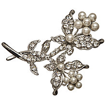 Buy John Lewis Faux Pearl Branch Brooch, Silver Online at johnlewis.com