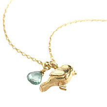 Buy Alex Monroe Warbler Bird Pendant, Gold Online at johnlewis.com