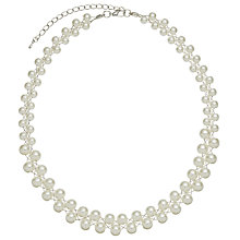 Buy John Lewis Double Row Wired Faux Pearl Necklace, White Online at johnlewis.com