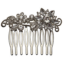 Buy John Lewis Crystal Flower Hair Slide, Silver Online at johnlewis.com