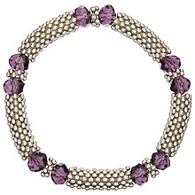 Buy John Lewis Crystal Bead Bracelet, Silver/Purple Online at johnlewis.com