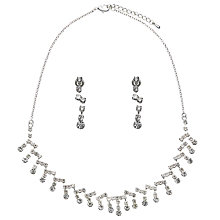 Buy John Lewis Cubic Zirconia Zig Zag Necklace And Earring Set, Silver Online at johnlewis.com