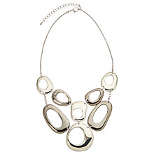 Buy John Lewis Large Cut Out Circle Necklace, Silver Online at johnlewis.com