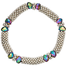Buy John Lewis Crystal Bead Stretch Bracelet, Silver/Multi Online at johnlewis.com