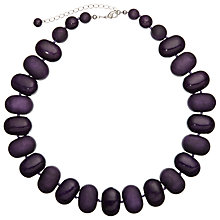 Buy John Lewis Oval Bead Necklace, Purple Online at johnlewis.com