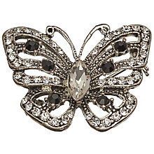 Buy John Lewis Glass Stone Miniature Butterfly Brooch, Silver Online at johnlewis.com