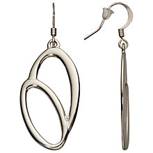 Buy John Lewis Double Oval Hook Earrings, Silver Online at johnlewis.com