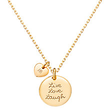 Buy Merci Maman Personalised Motto Necklace Online at johnlewis.com