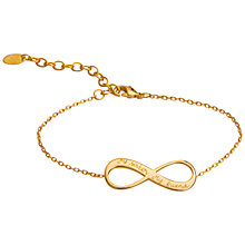 Buy Merci Maman Personalised Infinity Chain Bracelet Online at johnlewis.com