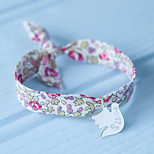 Buy Merci Maman Personalised Sterling Silver Dove Liberty Bracelet Online at johnlewis.com