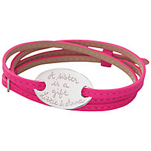 Buy Merci Maman Sterling Silver Personalised Oval Plate Bracelet Online at johnlewis.com