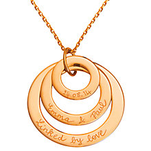 Buy Merci Maman Personalised Eternity Trio Necklace Online at johnlewis.com
