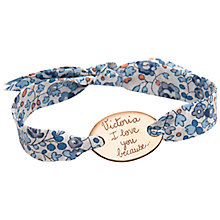 Buy Merci Maman Gold Plated Personalised Oval Liberty Bracelet Online at johnlewis.com