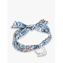 Buy Merci Maman Sterling Silver Personalised Dove Liberty Bracelet Online at johnlewis.com