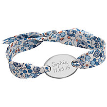 Buy Merci Maman Sterling Silver Gold Plated Personalised Oval Liberty Bracelet Online at johnlewis.com
