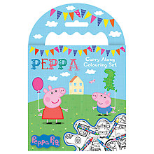 Buy Peppa Pig Carry Along Colouring Set Online at johnlewis.com