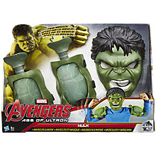 Buy The Avengers: Age of Ultron Hulk Muscles & Mask Kit Online at johnlewis.com