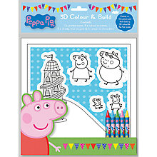 Buy Peppa Pig 3D Colour & Build Set Online at johnlewis.com